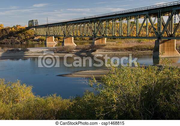South Train Bridge in Saskatoon - csp1468815