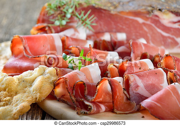 South Tyrolean bacon - csp29986573
