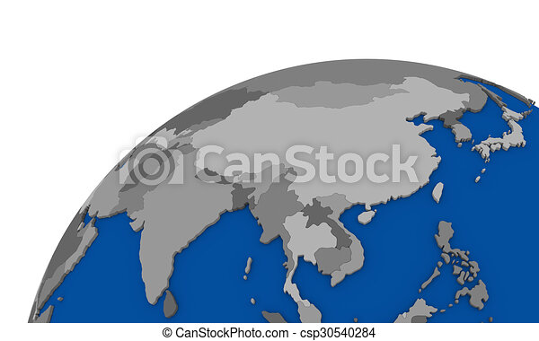 Southeast Asia On Earth Political Map   Csp30540284