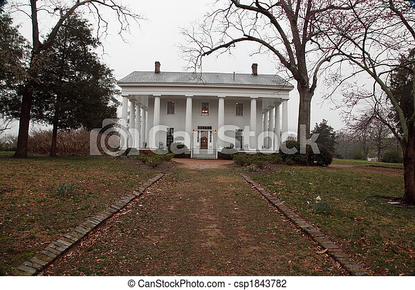 Southern antebellum plantation house old antebellum for Old southern house plans
