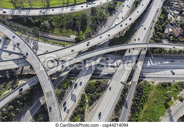 Southern California Freeway Aerial - csp44214094