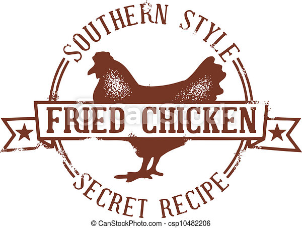 Southern Fried Chicken Stamp - csp10482206