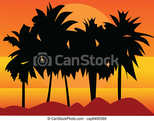 Southern palm trees - csp9400369