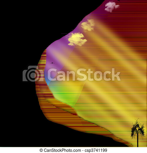 Southwestern US Canyons Abstraction - csp3741199