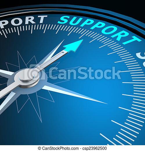 soutien, mot, compas - csp23962500