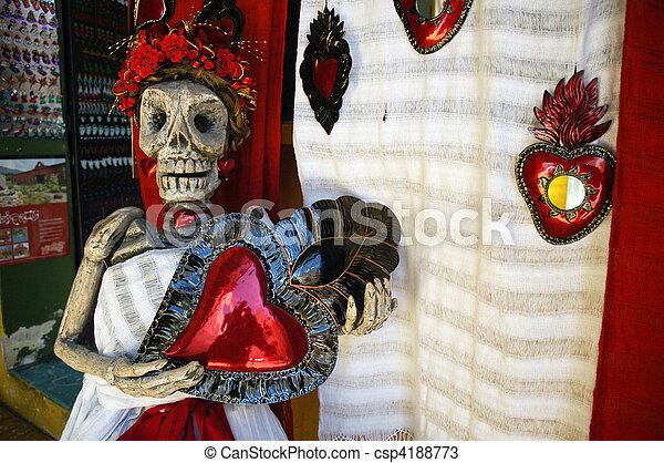 Souvenirs in Oaxaca Mexico - csp4188773