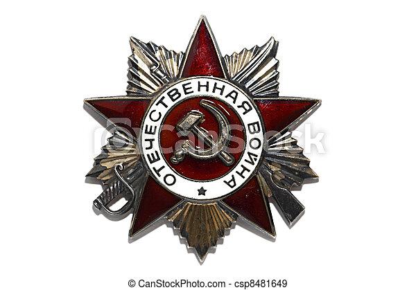 Soviet Order of the Patriotic War - csp8481649