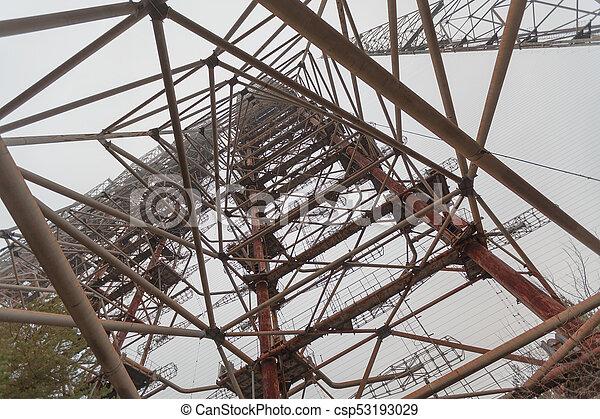 Soviet Radar System Duga near Chernobyl Nuclear Power Plant - csp53193029