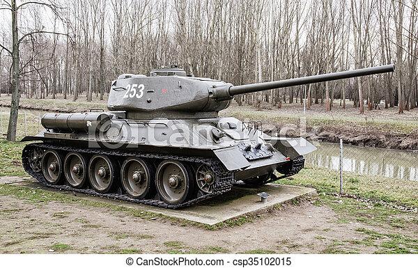 Soviet tank t-34-85 of the world war ii. Soviet medium tank t-34-85 of the  world war ii. biggest war campaign of 20th century | CanStock