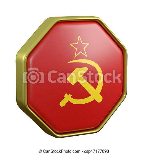 Soviet Union Symbol 3d Rendering Of Soviet Union Flag On A Stock