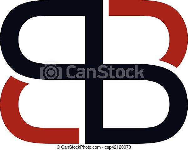 sovrapposto, arte, iniziale, logotype, tema, vettore, lettera, logotipo - csp42120070