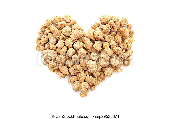 Soya protein chunks in a heart shape - csp29525674