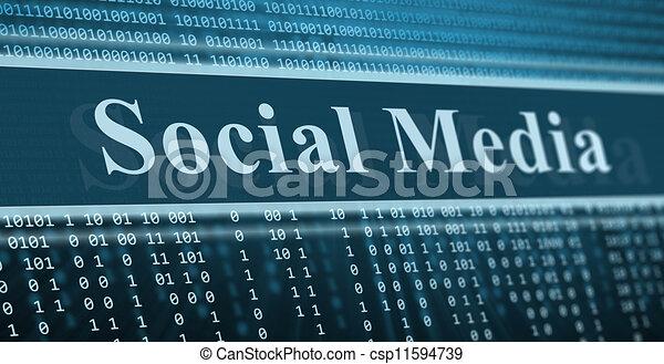 sozial, binärer, begriff, code, medien - csp11594739
