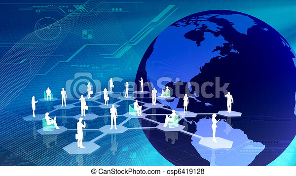 sozial, communitty, vernetzung - csp6419128