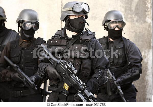spécialisé, police, unité - csp4931768