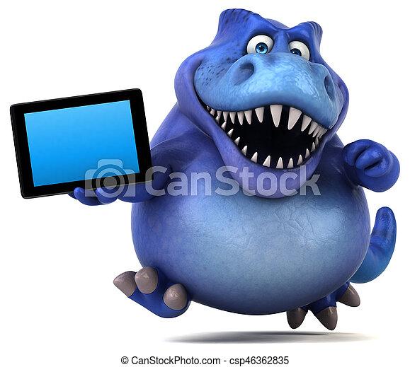Fun Dinosaurier - 3D Illustration - csp46362835