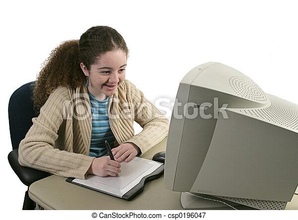 spaß, graphische tablette - csp0196047