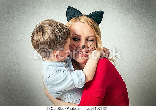 spaß, junge, mama, haben, glücklich - csp51976824
