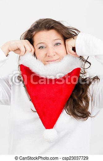 spaß, weihnachten - csp23037729