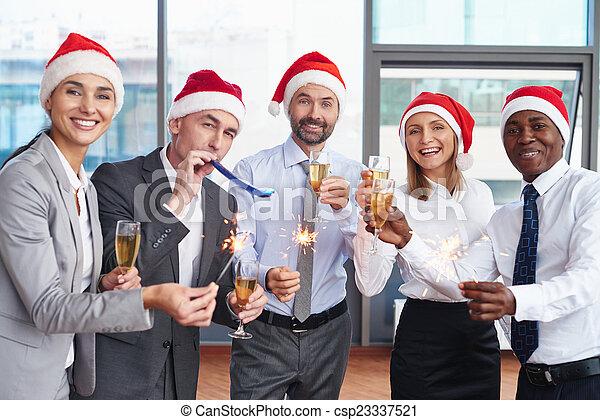 spaß, weihnachten - csp23337521