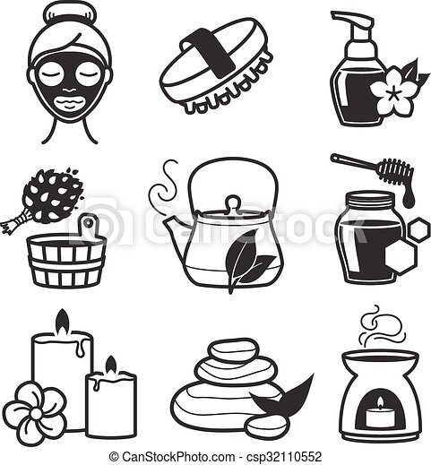 Wellness icon  Spa and wellness icons set.