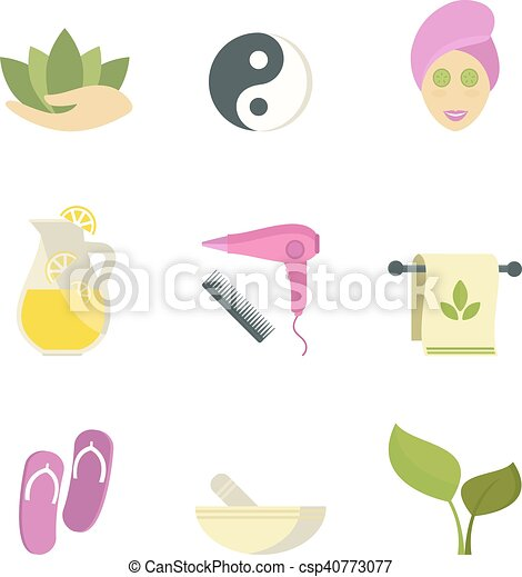 Spa Beauty Body Care Vector Icons