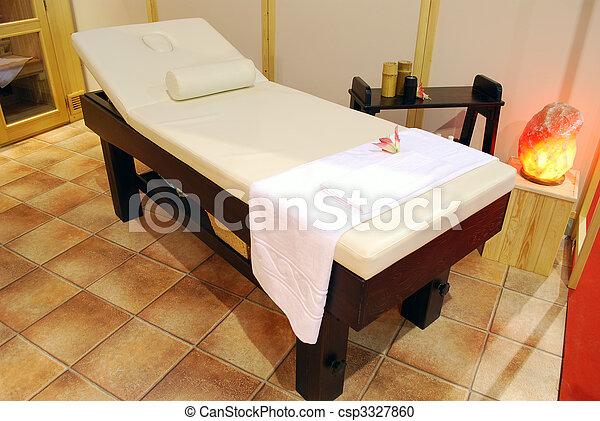 spa, cama, massagem, relaxamento - csp3327860