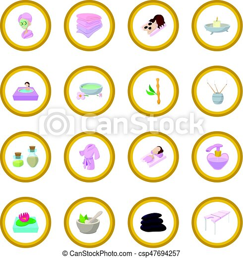 Spa cartoon icon circle - csp47694257