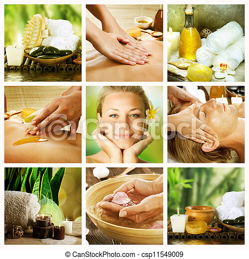 spa, collage., conceito, dayspa - csp11549009