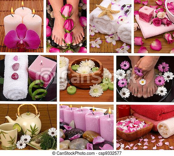 Spa Collage - csp9332577