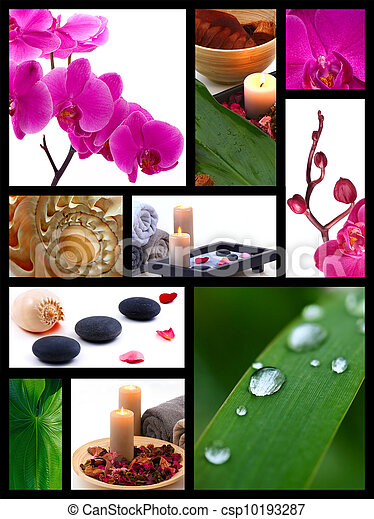 Spa collage - csp10193287