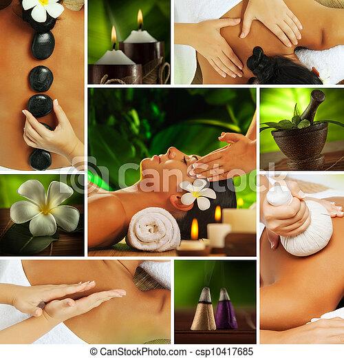 spa collage - csp10417685