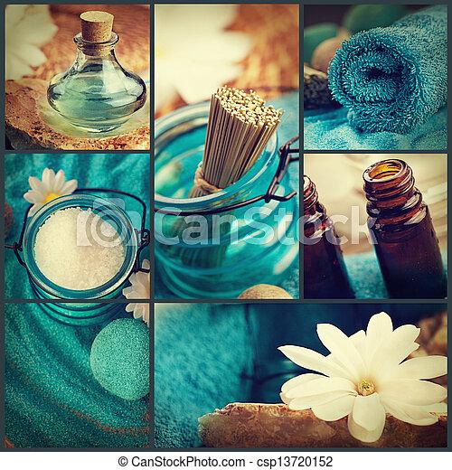 Spa collage - csp13720152
