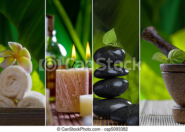 spa collage - csp5093382