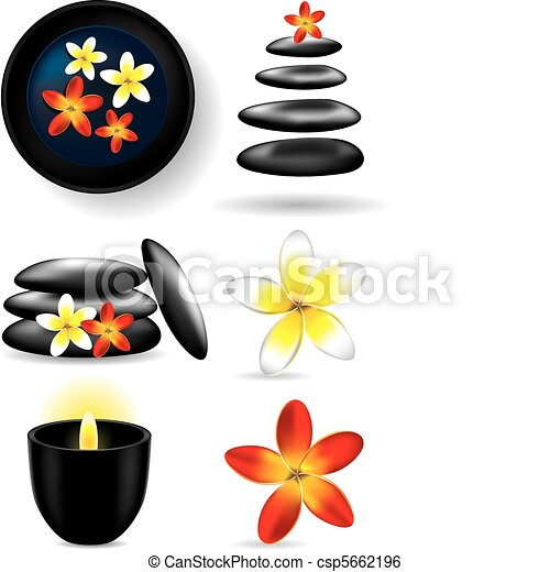 spa elements candle flower stones vector illustration clip art rh canstockphoto com free spa clipart images free spa clipart borders