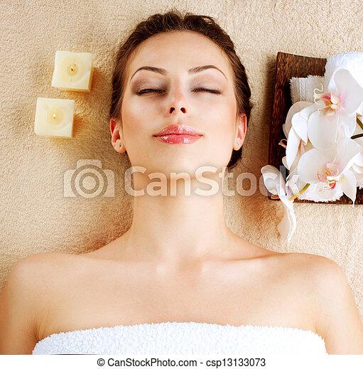 spa, girl, salon, beauté - csp13133073