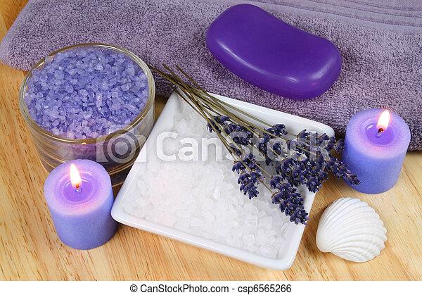 spa, lavanda, relaxe - csp6565266