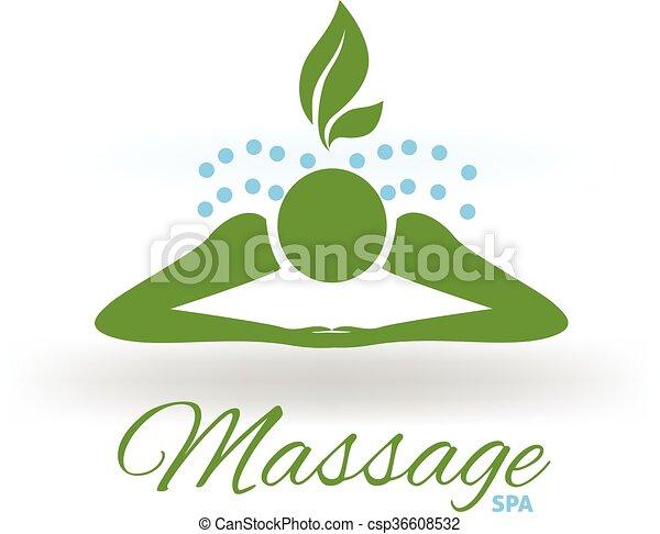Spa Masage Logo Vecteur Conception Spa Logo Masage