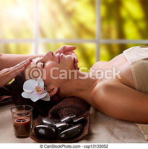 spa, massage facial - csp13133052