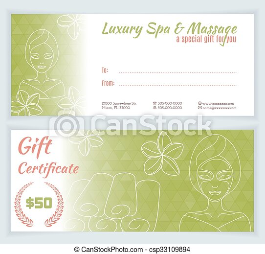 Spa massage gift certificate template with hand drawn woman eps spa massage gift certificate template csp33109894 yadclub Gallery