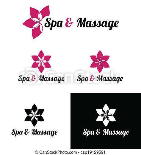 Spa & massage logo template - csp19129591