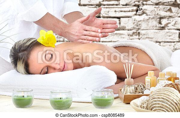 spa, massage. - csp8085489