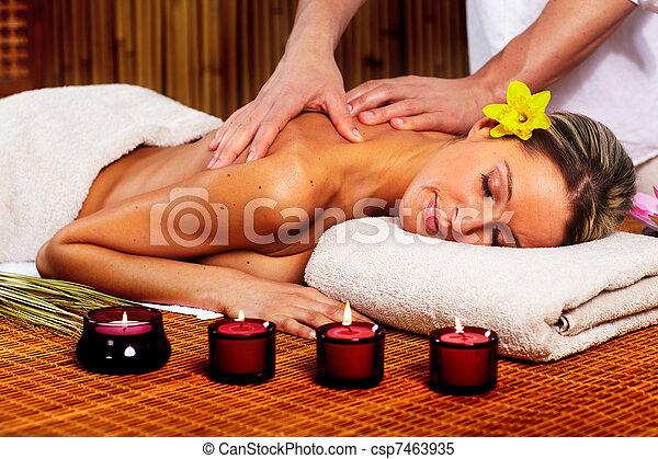 Spa massage. - csp7463935