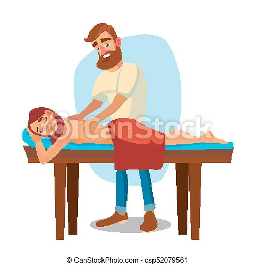 spa massage vector woman on a vacation getting a clip art vector rh canstockphoto com  spa girl clipart free