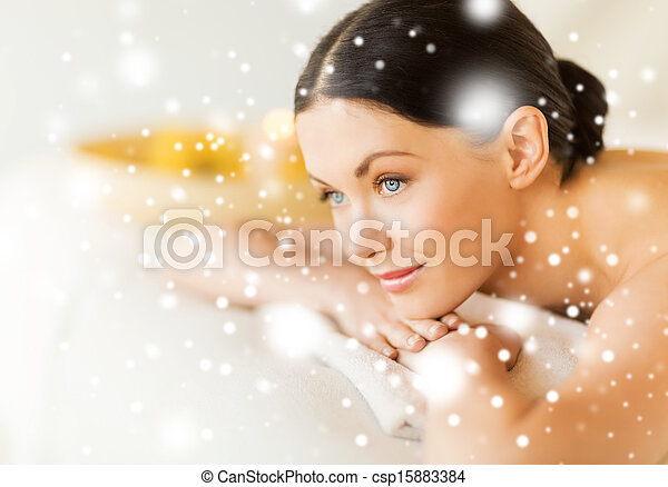 spa, mulher - csp15883384