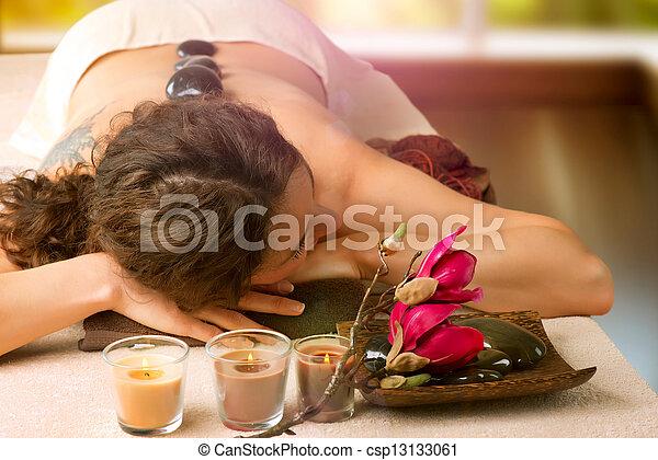 spa, pierre, salon., dayspa, massage. - csp13133061