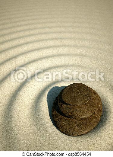 spa relax stone water zen sand - csp8564454