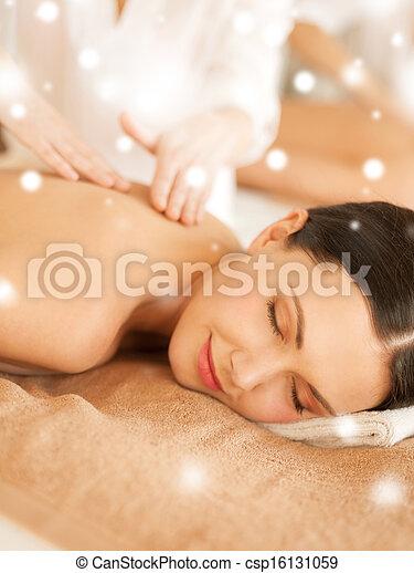 spa, salão, mulher, massagem, obtendo - csp16131059