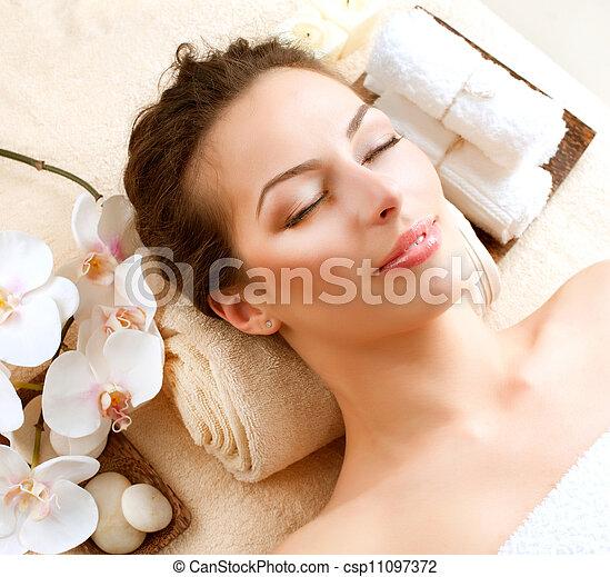 spa, salon, femme, beauté - csp11097372