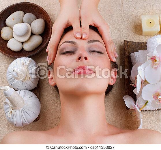 spa, salon, massage facial - csp11353827